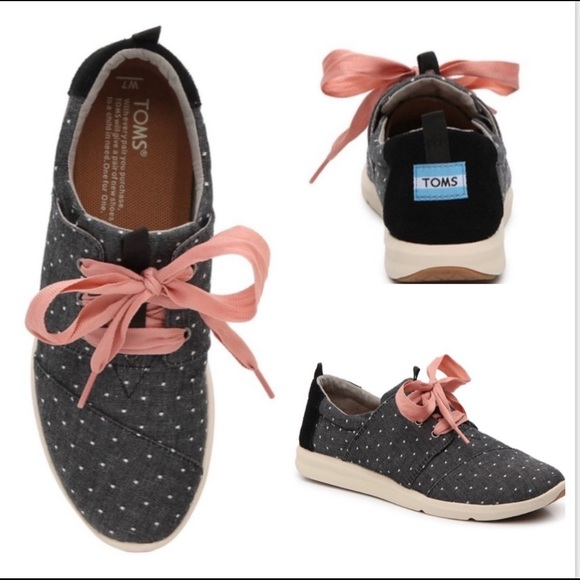 Toms Del Ray Polka Dot Sneakers Blue